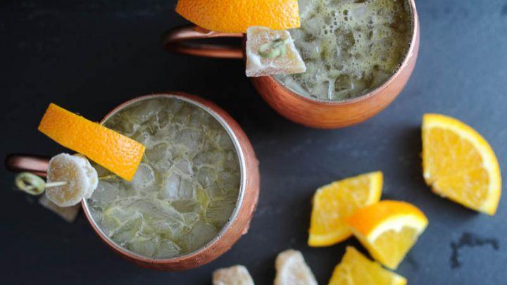 Fresh Squeezed Moscow Mule - orange juice, ginger beer, vodka, lime juice