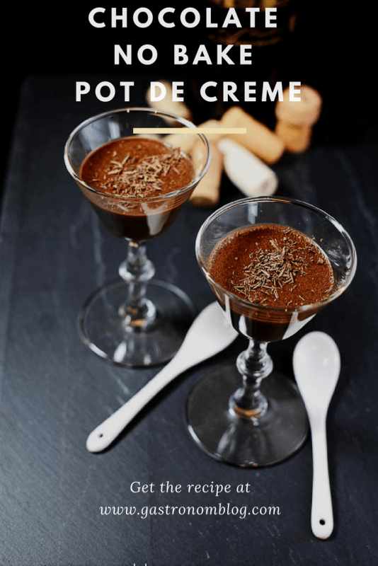 Chocolate No Bake Pot de Creme