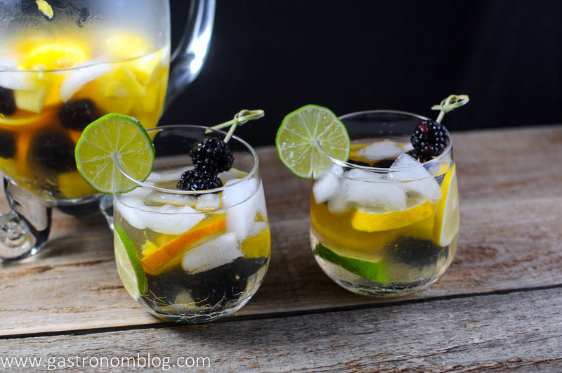 Sangria Blanca with berries and citrus