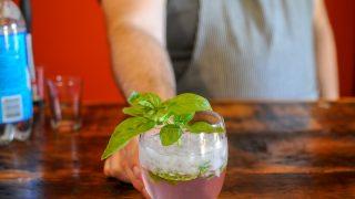 Rhubasil - Rhubarb Cocktail