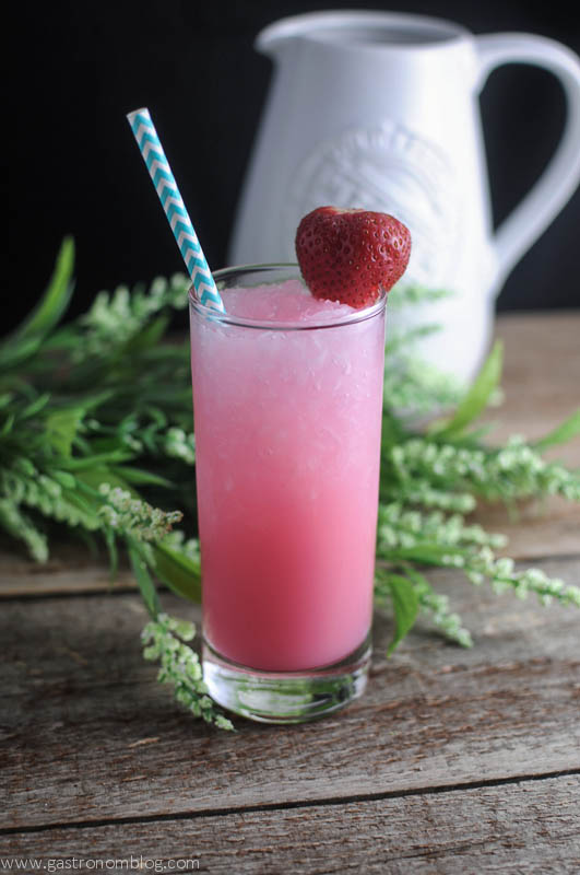 Strawberry Tropical Chiller - vodka, coconut milk, frozen, bitters, strawberries