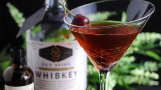 Brandied Chocolate Manhattan - A Whiskey Cocktail