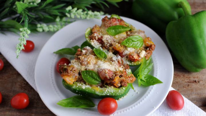Stuffed Cheesy Italian Peppers