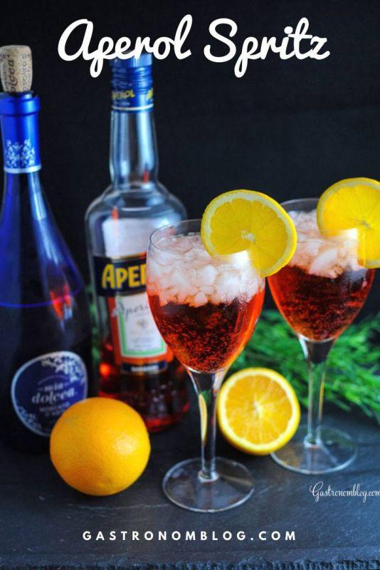 Aperol Spritz Cocktail - aperol, prosecco