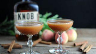 Bourbon Peach Pie Cocktail