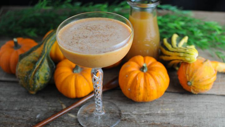 Pumpkin Harvest Cocktail - bourbon, pumpkin, cream