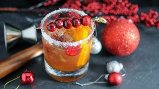 Christmas Old Fashioned - A Rye Whiskey Cocktail