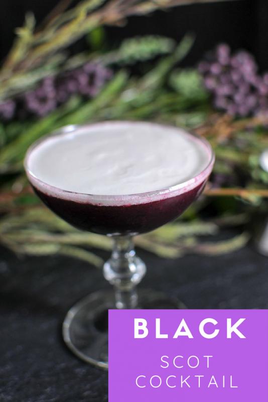 Black Scot Cocktail - Scotch whiskey, blackberries, honey and cream