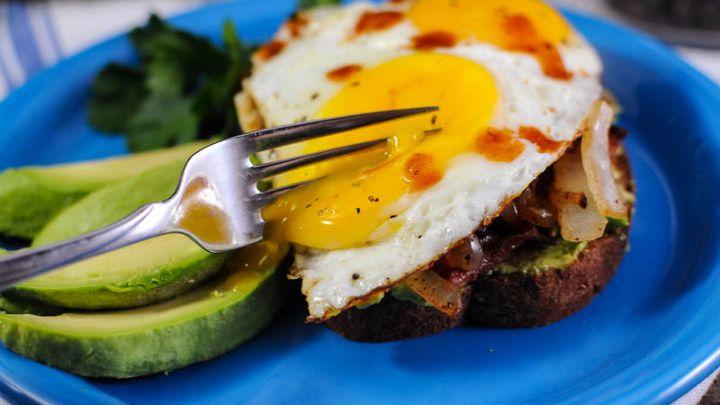 Avocado Bacon Egg Toast