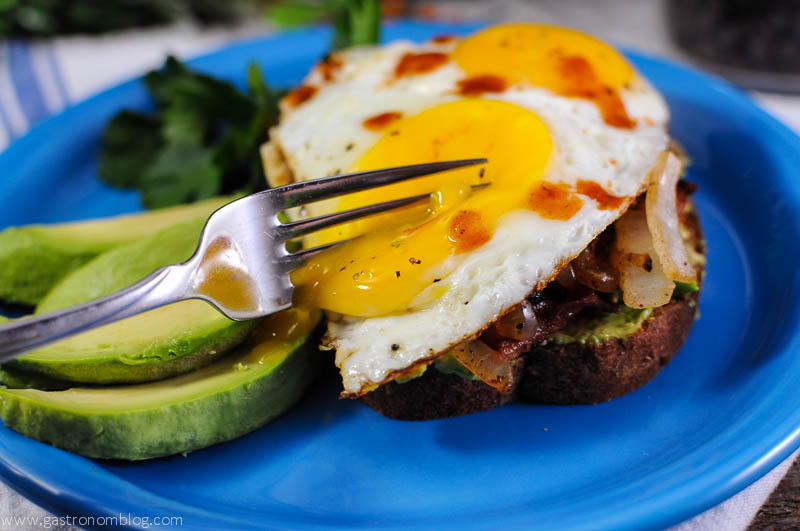 Avocado Bacon Egg Toast