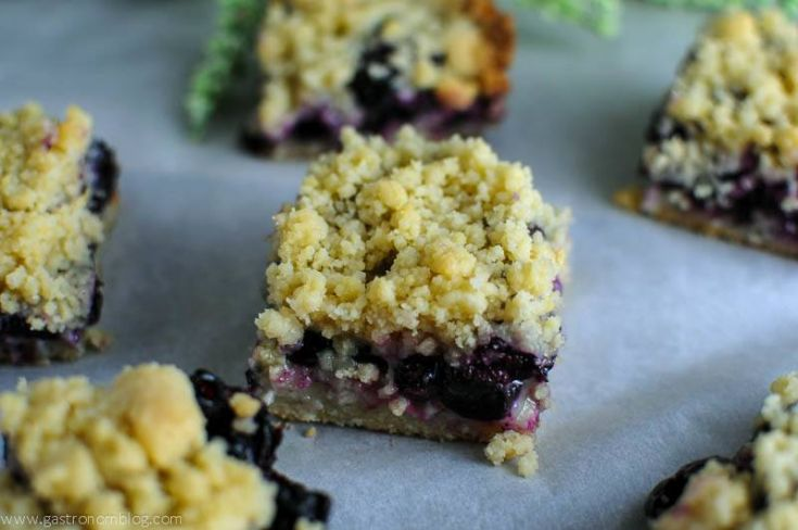 Blueberry Streusel Coffee Cake Bars with fresh blueberries. Great for breakfast or brunch! #recipes #recipe #baking #blueberries #gastronomblog