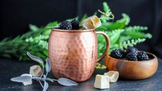 Blackberry Sage Kentucky Mule - A Bourbon Cocktail