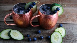 Blueberry Cucumber Moscow Mule - A Vodka Cocktail