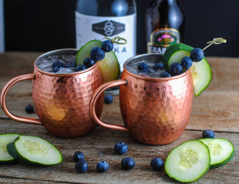 blueberry cucumber moscow mule a vodka moscow mule cocktail. Black Bedroom Furniture Sets. Home Design Ideas