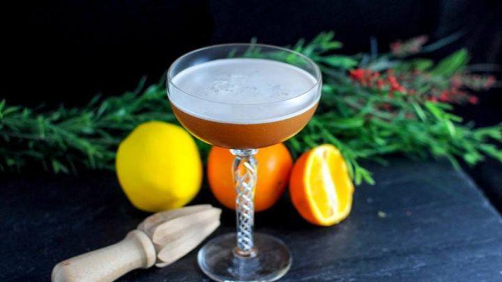 T & T Sour Amaro Cocktail