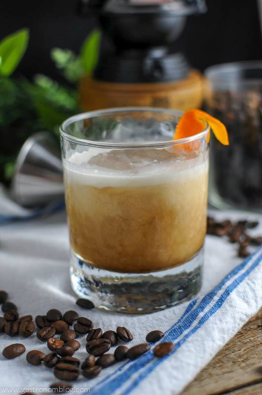 Cold Brew Bourbon Cocktail in rocks glass
