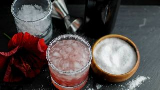 Salty Dog Cocktail - with Hibiscus and Vodka