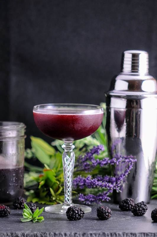 Brandy Blackberry Lavender Shrub Cocktail