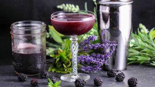Brandy and Blackberry Lavender Shrub - A Brandy Cocktail