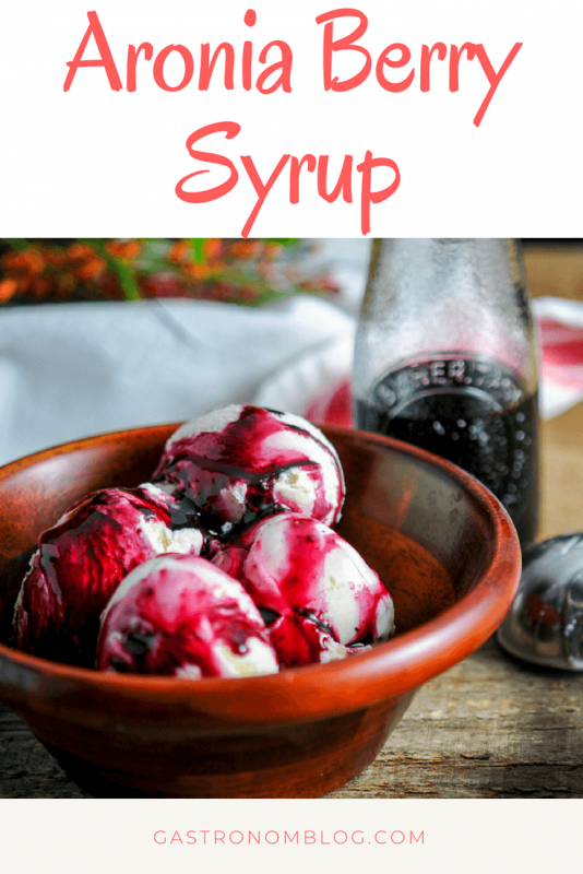 Aronia Berry Simple Syrup