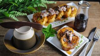 Savory French Toast with Blueberry Thyme Butter