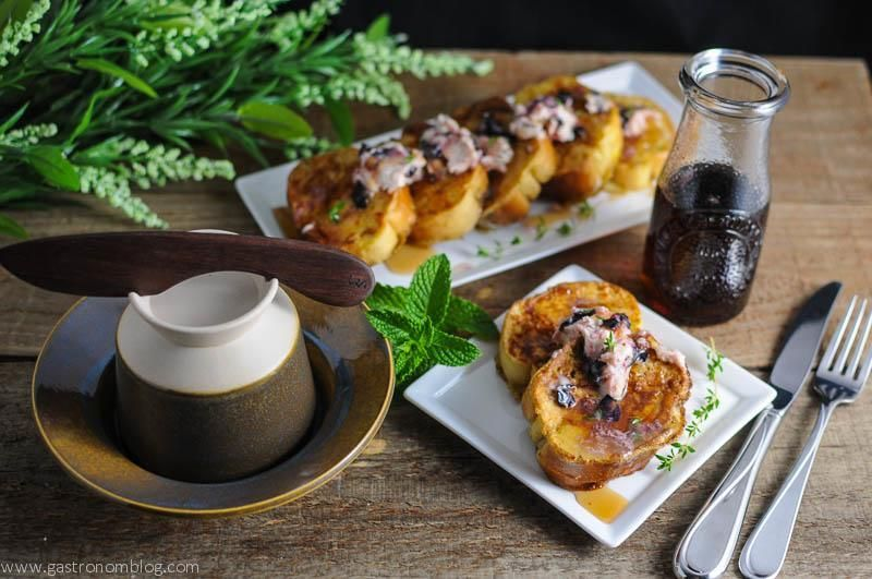 French Toast with Blueberry Thyme Butter