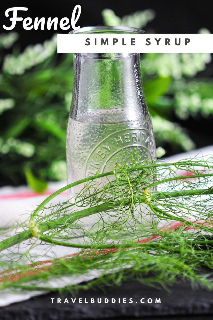 Fennel Simple Syrup - this homemade recipe has fennel, salt, and sugar. We will show you how o make this anise flavor for cocktails and drinks from Gastronomblog. #cocktail #cocktails #gastronomblog #sugar #homemade