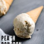 Ice cream in a cone on slate board
