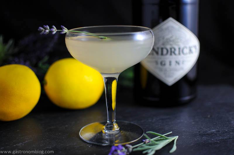 Lavender Bee's Knees cocktail in a coupe