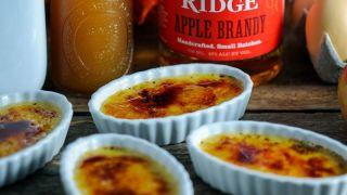 Fall Dessert Recipes - Apple Cider Brandy Creme Brulee