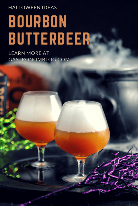 Bourbon Butterbeer Cocktail - bourbon whiskey, butter extract, ginger beer, dry ice