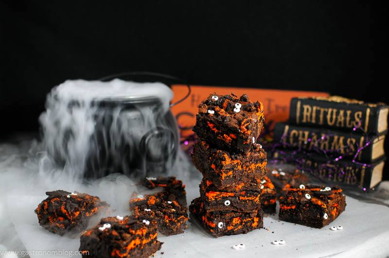 Halloween Oreo Monster Brownies