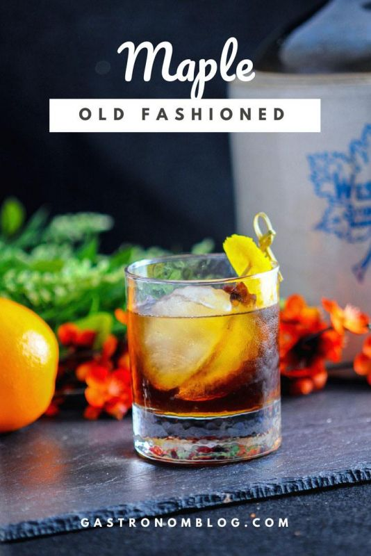 Maple Old Fashioned - whiskey, maple syrup, bitters