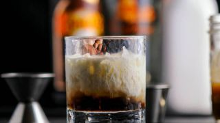 Salted Bourbon Butterscotch White Russian - A Vodka Cocktail