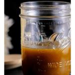 Butterscotch sauce in a jar