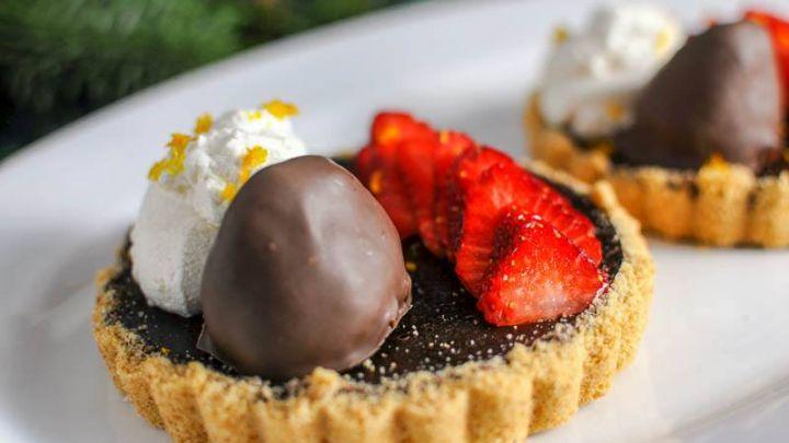 Chocolate Tarts - With Bourbon