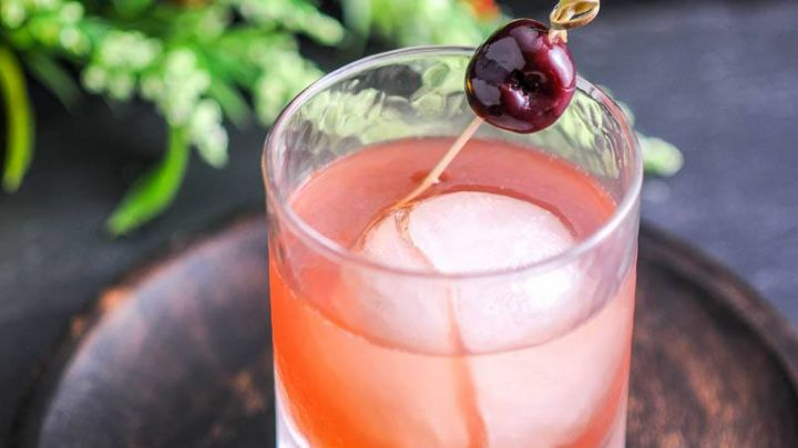 The Smoked Cherry - A bourbon and brandy cocktail