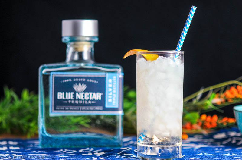 Where The Sea Meets the Sky - A Blue Nectar Tequila Cocktail