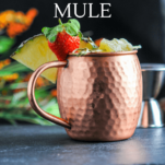 Cocktail in copper mug