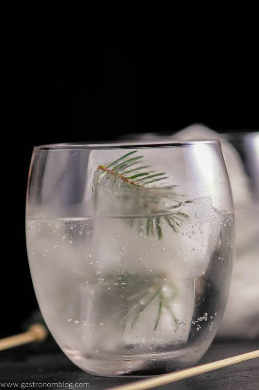 Mountain Pine Gin and Tonic with pine infused ice cubes