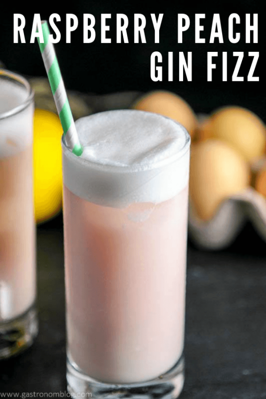 Pink cocktail with foam in highball