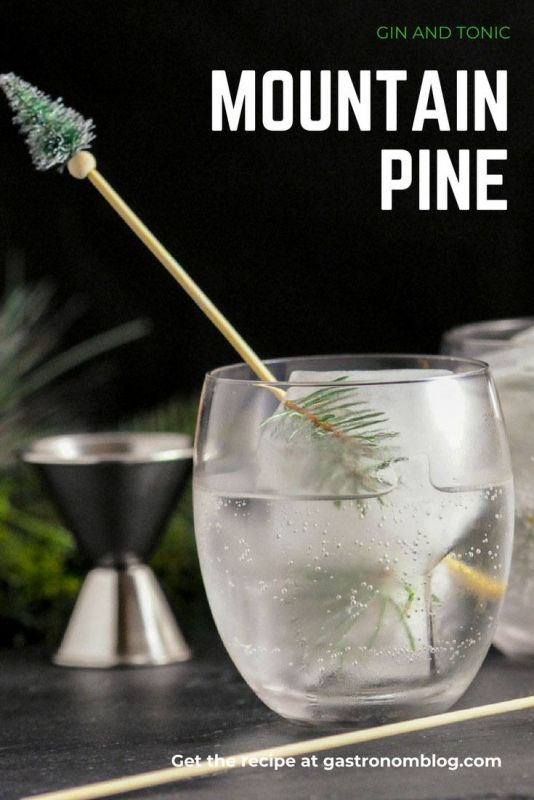 Mountain Pine Gin and Tonic - gin, tonic water, lemon juice, pine syrup