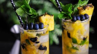 Blueberry Pineapple Mojito - A Rum Cocktail