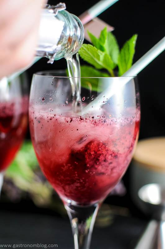 Blueberry Mint Sorbet Sparkling Rosé Float