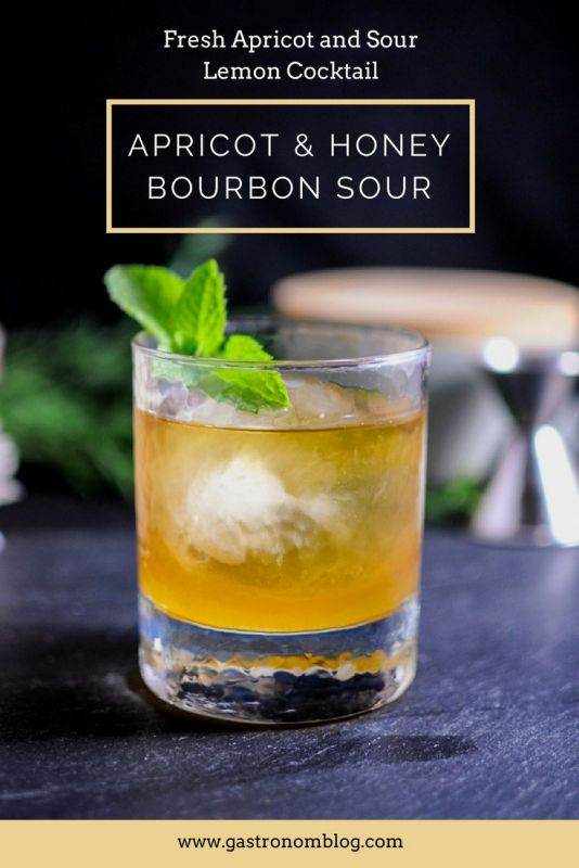 Apricot and Honey Bourbon Sour - bourbon, lemon juice, apricot and honey syrup