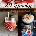 Spooky Halloween Cocktails in a collage