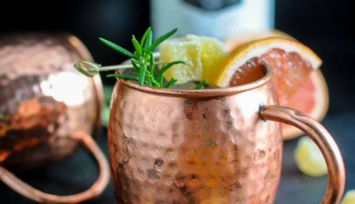 Rosemary Grapefruit Moscow Mule - A Vodka Cocktail