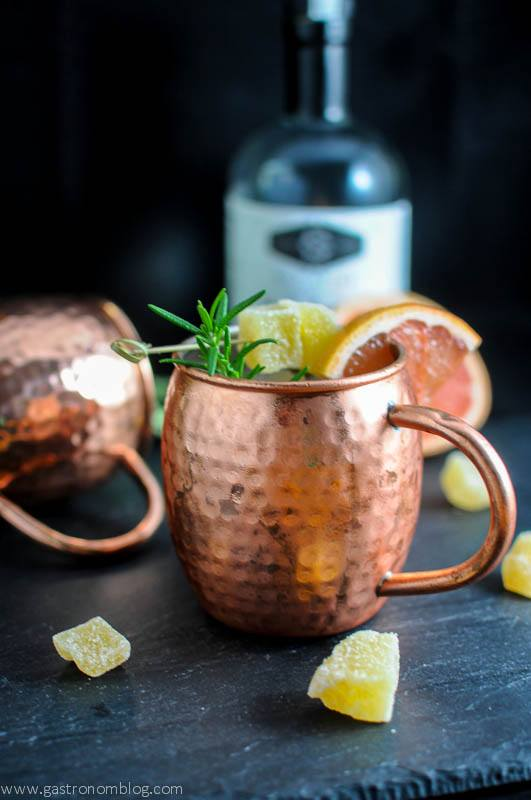 rosemary grapefruit moscow mule a vodka and herbal cocktail. Black Bedroom Furniture Sets. Home Design Ideas