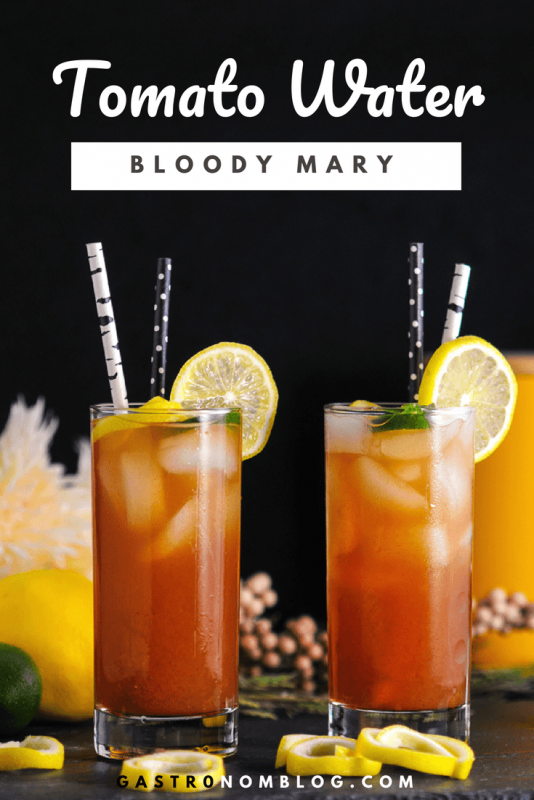 Tomato Water Bloody Mary - vodka, tomato water, worcestershire sauce, lemon juice