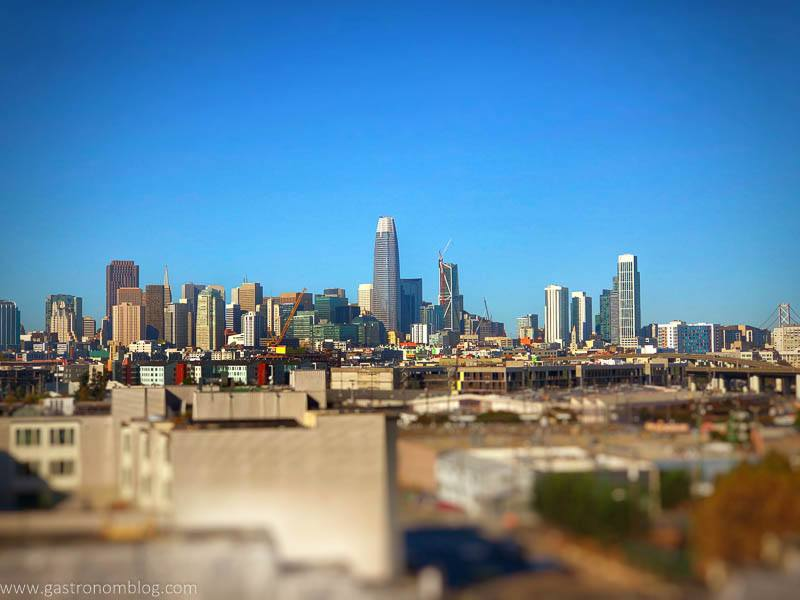 Shot from the patio of ANchor Distilling of downtown San Fransisco.